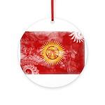 Kyrgyzstan Flag Ornament (Round)