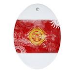Kyrgyzstan Flag Ornament (Oval)