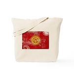 Kyrgyzstan Flag Tote Bag