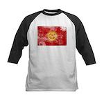 Kyrgyzstan Flag Kids Baseball Jersey