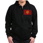 Kyrgyzstan Flag Zip Hoodie (dark)