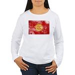 Kyrgyzstan Flag Women's Long Sleeve T-Shirt