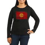 Kyrgyzstan Flag Women's Long Sleeve Dark T-Shirt