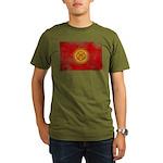 Kyrgyzstan Flag Organic Men's T-Shirt (dark)