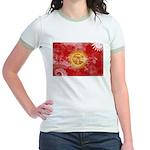 Kyrgyzstan Flag Jr. Ringer T-Shirt