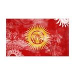 Kyrgyzstan Flag 38.5 x 24.5 Wall Peel