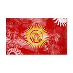 Kyrgyzstan Flag 22x14 Wall Peel