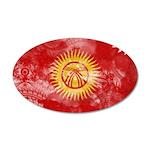 Kyrgyzstan Flag 38.5 x 24.5 Oval Wall Peel