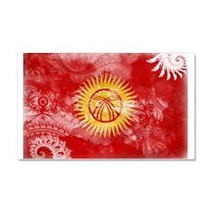 Kyrgyzstan Flag Car Magnet 20 x 12