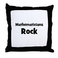 MATHEMATICIANS  Rock Throw Pillow