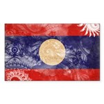 Laos Flag Sticker (Rectangle 50 pk)