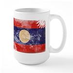 Laos Flag Large Mug