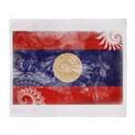 Laos Flag Throw Blanket