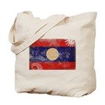 Laos Flag Tote Bag