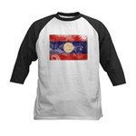 Laos Flag Kids Baseball Jersey