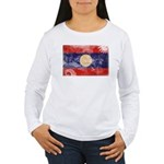 Laos Flag Women's Long Sleeve T-Shirt