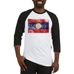Laos Flag Baseball Jersey