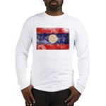 Laos Flag Long Sleeve T-Shirt