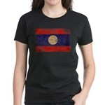 Laos Flag Women's Dark T-Shirt