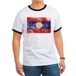 Laos Flag Ringer T