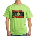 Laos Flag Green T-Shirt