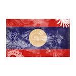 Laos Flag 38.5 x 24.5 Wall Peel