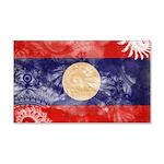 Laos Flag 22x14 Wall Peel