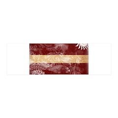 Latvia Flag 42x14 Wall Peel
