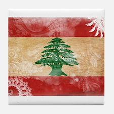 Lebanon Flag Tile Coaster