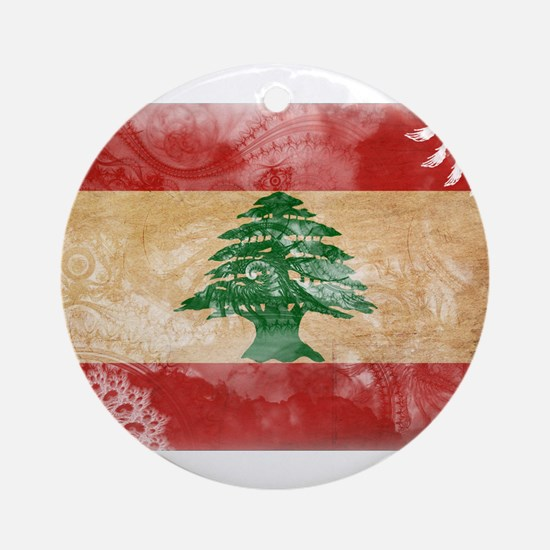 Lebanon Flag Ornament (Round)