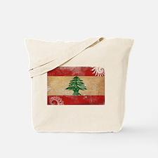 Lebanon Flag Tote Bag