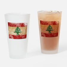 Lebanon Flag Drinking Glass