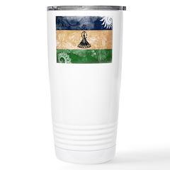 Lesotho Flag Stainless Steel Travel Mug