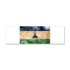 Lesotho Flag Car Magnet 10 x 3
