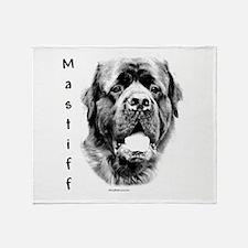 Fluffy Mastiff Charcoal Throw Blanket