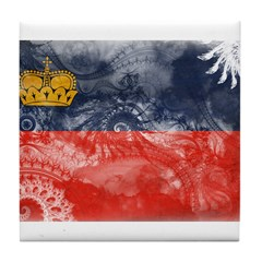 Liechtenstein Flag Tile Coaster