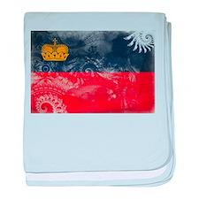 Liechtenstein Flag baby blanket