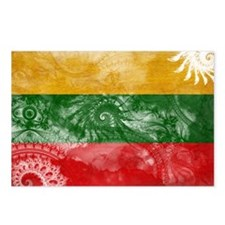 Lithuania Flag Postcards (Package of 8)