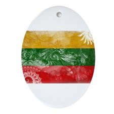 Lithuania Flag Ornament (Oval)