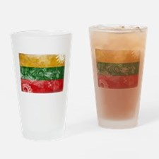 Lithuania Flag Drinking Glass