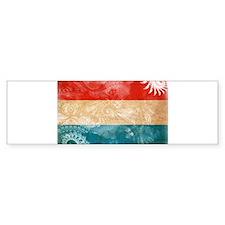 Luxembourg Flag Bumper Sticker