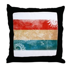 Luxembourg Flag Throw Pillow