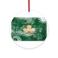 Macau Flag Ornament (Round)