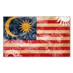 Malaysia Flag Sticker (Rectangle 10 pk)