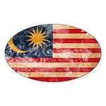 Malaysia Flag Sticker (Oval)