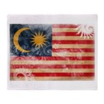 Malaysia Flag Throw Blanket