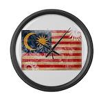 Malaysia Flag Large Wall Clock