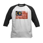 Malaysia Flag Kids Baseball Jersey