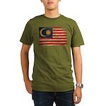 Malaysia Flag Organic Men's T-Shirt (dark)