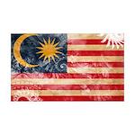 Malaysia Flag 38.5 x 24.5 Wall Peel